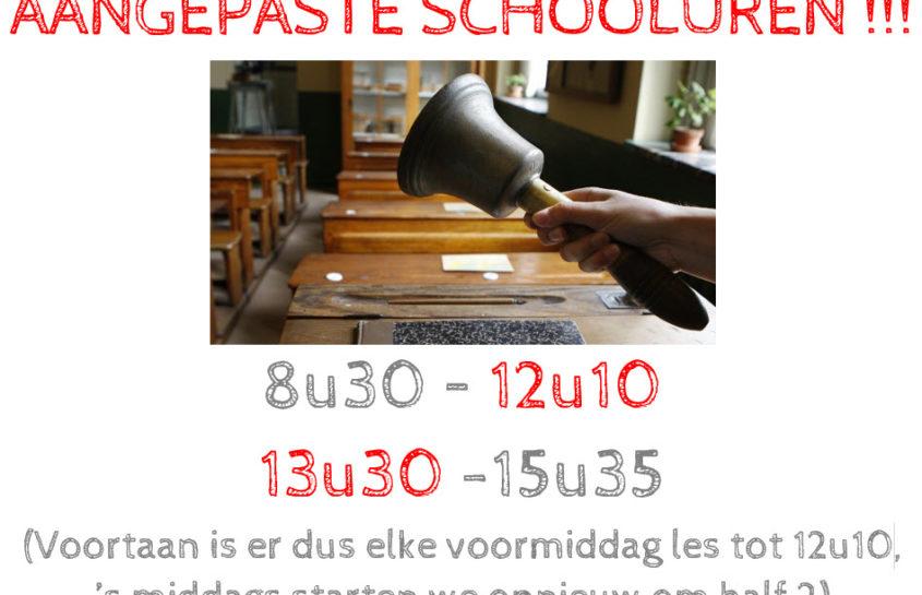 Nieuwe schooluren !